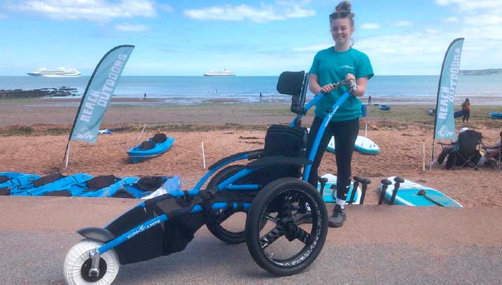 Beach wheelchair at Goodrington Sands